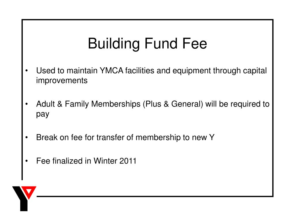 Building Fund Fee