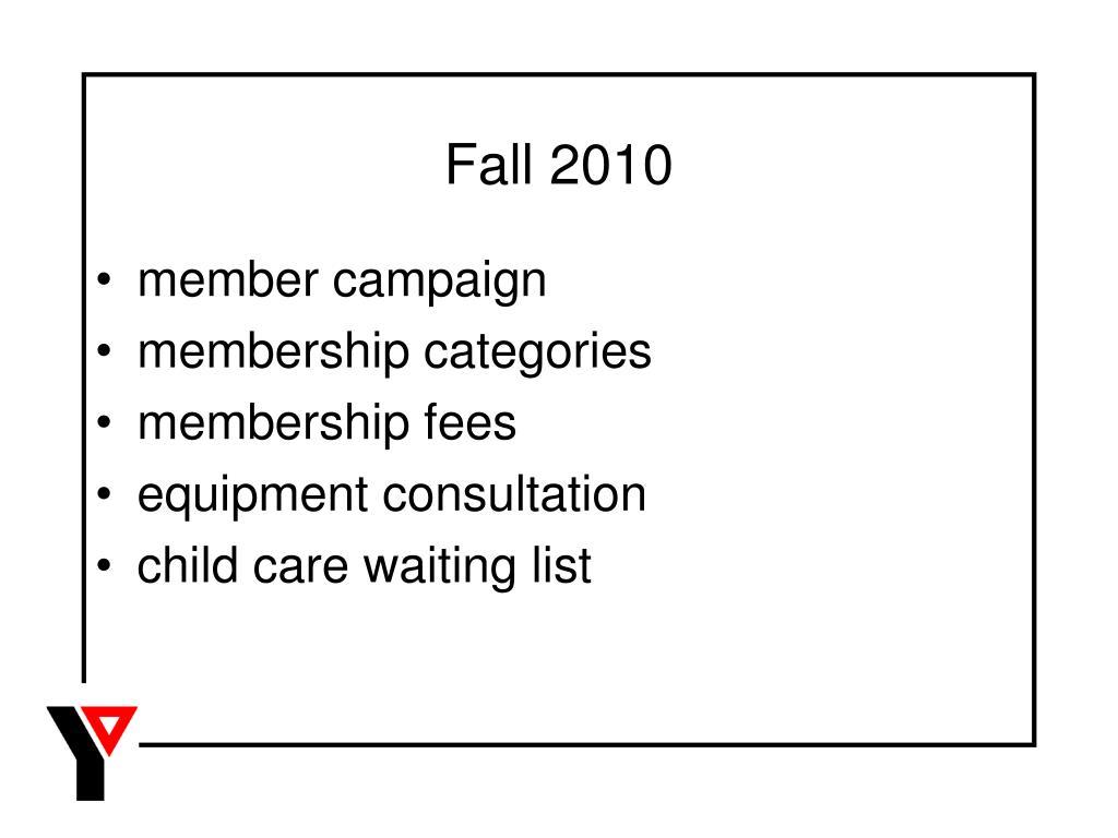 Fall 2010