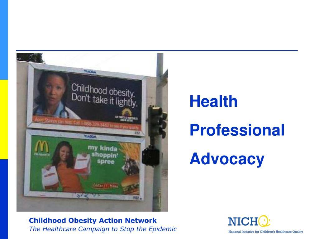 Health Professional Advocacy