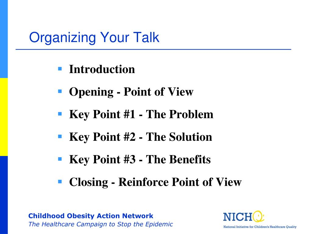 Organizing Your Talk
