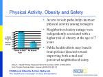 physical activity obesity and safety