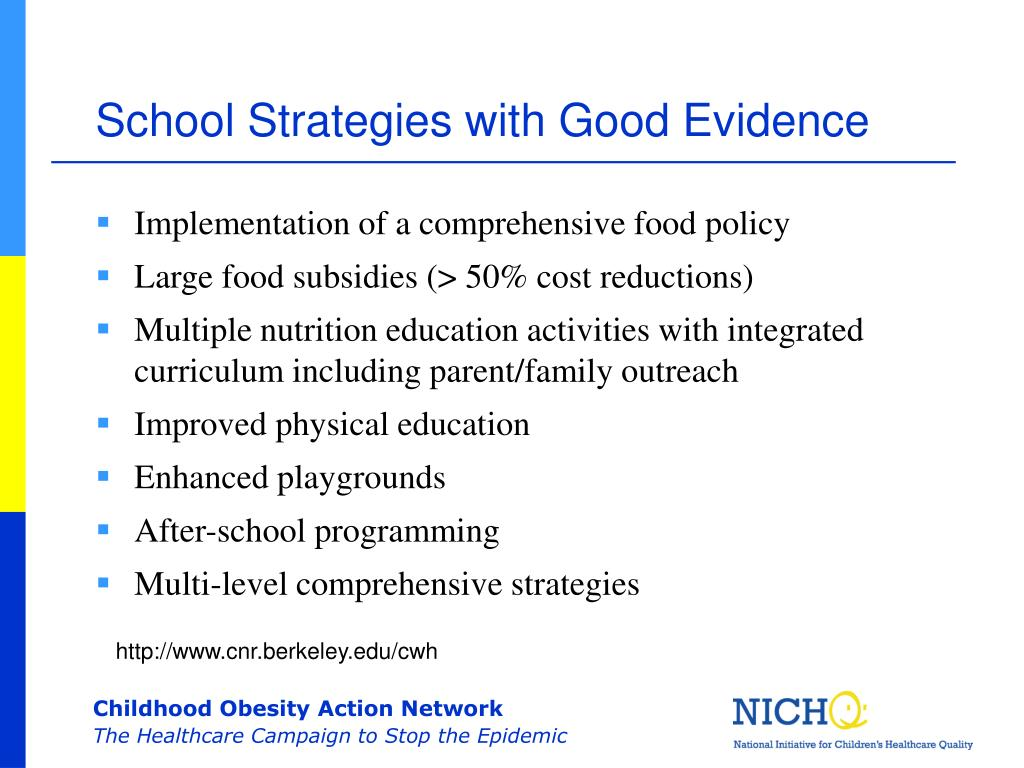 School Strategies with Good Evidence