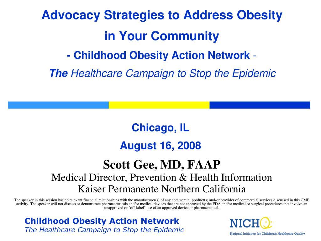 Advocacy Strategies to Address Obesity