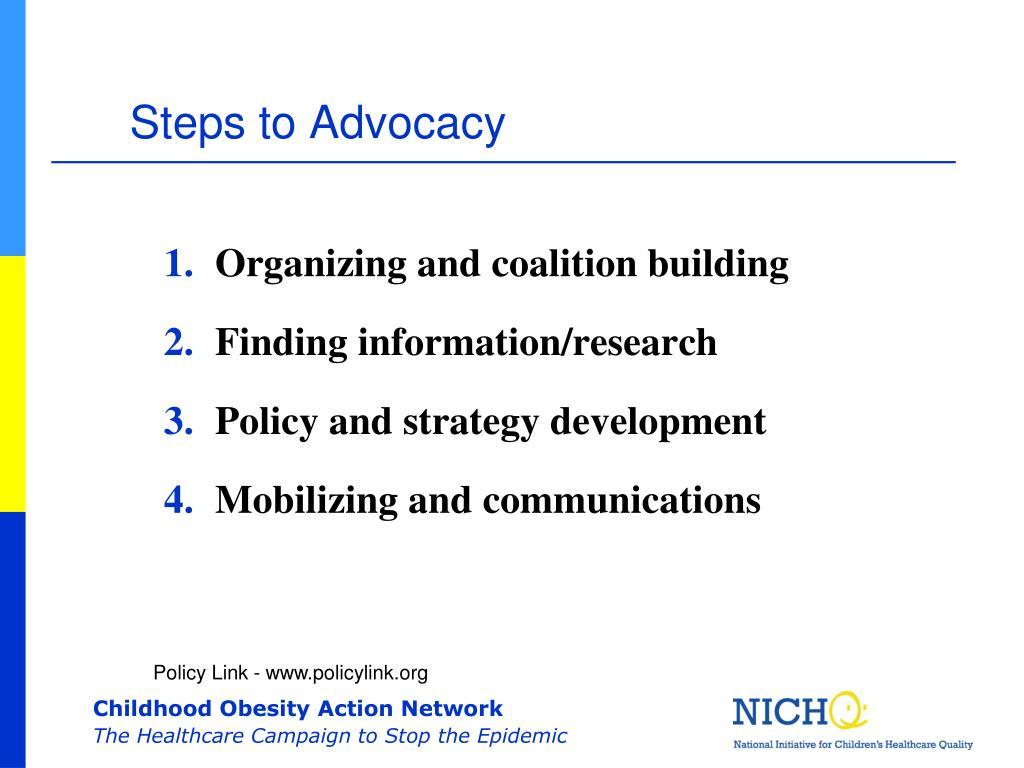 Steps to Advocacy