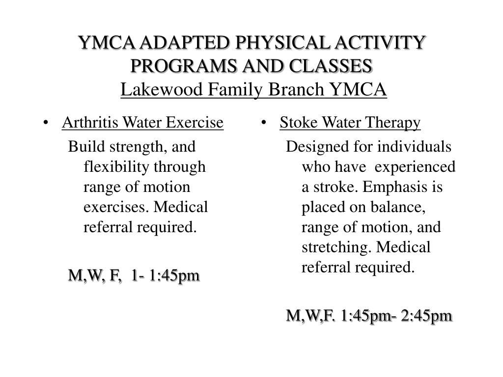 Arthritis Water Exercise