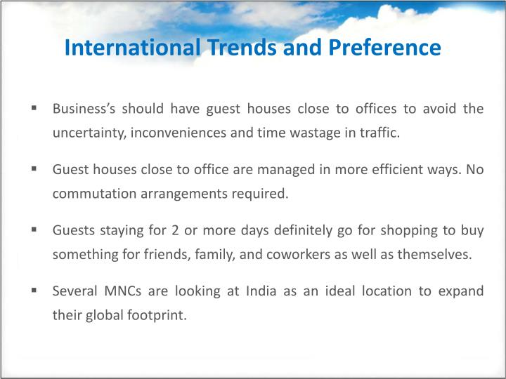 International trends and preference l.jpg