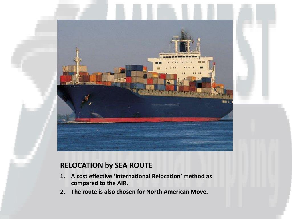 RELOCATION by SEA ROUTE
