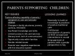 parents supporting children