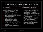 schools ready for children