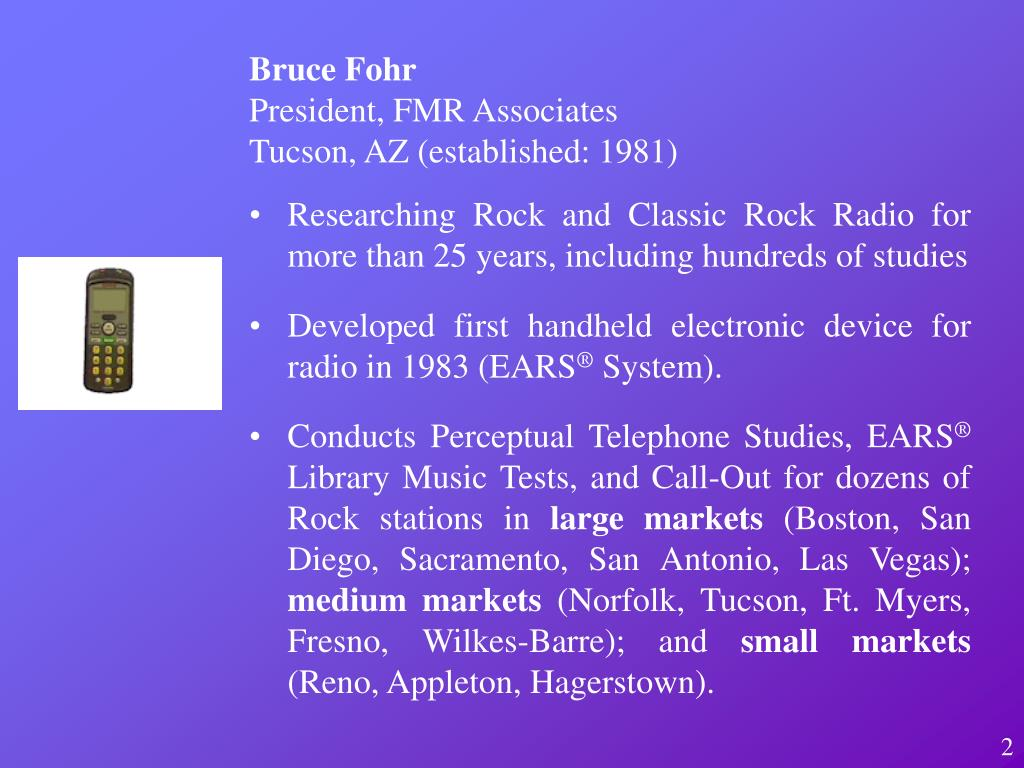 Researching Rock and Classic Rock Radio for more than 25 years, including hundreds of studies