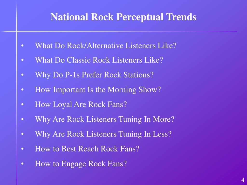 National Rock Perceptual Trends