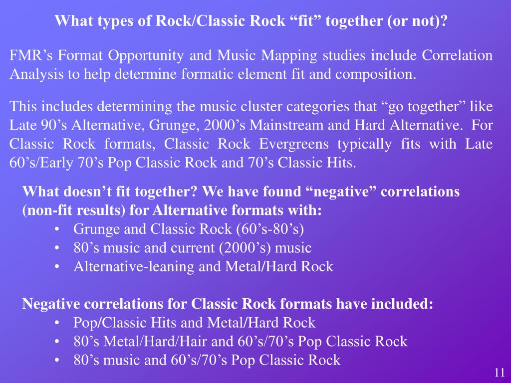 """What types of Rock/Classic Rock """"fit"""" together (or not)?"""