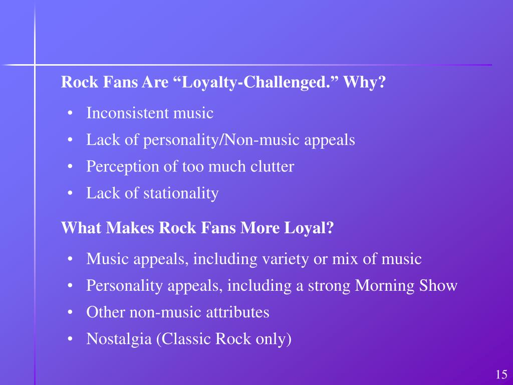 """Rock Fans Are """"Loyalty-Challenged."""" Why?"""