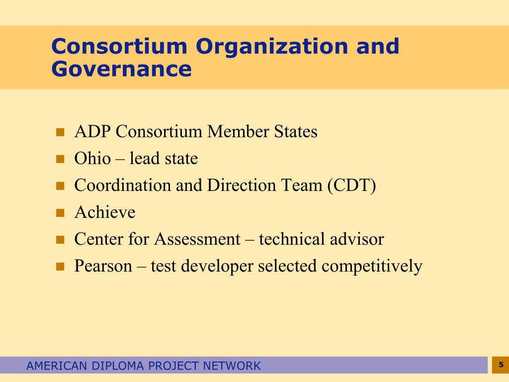 Consortium Organization and Governance