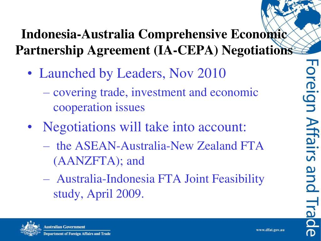 Indonesia-Australia Comprehensive Economic Partnership Agreement (IA-CEPA) Negotiations