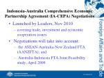 indonesia australia comprehensive economic partnership agreement ia cepa negotiations