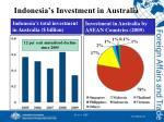 indonesia s investment in australia