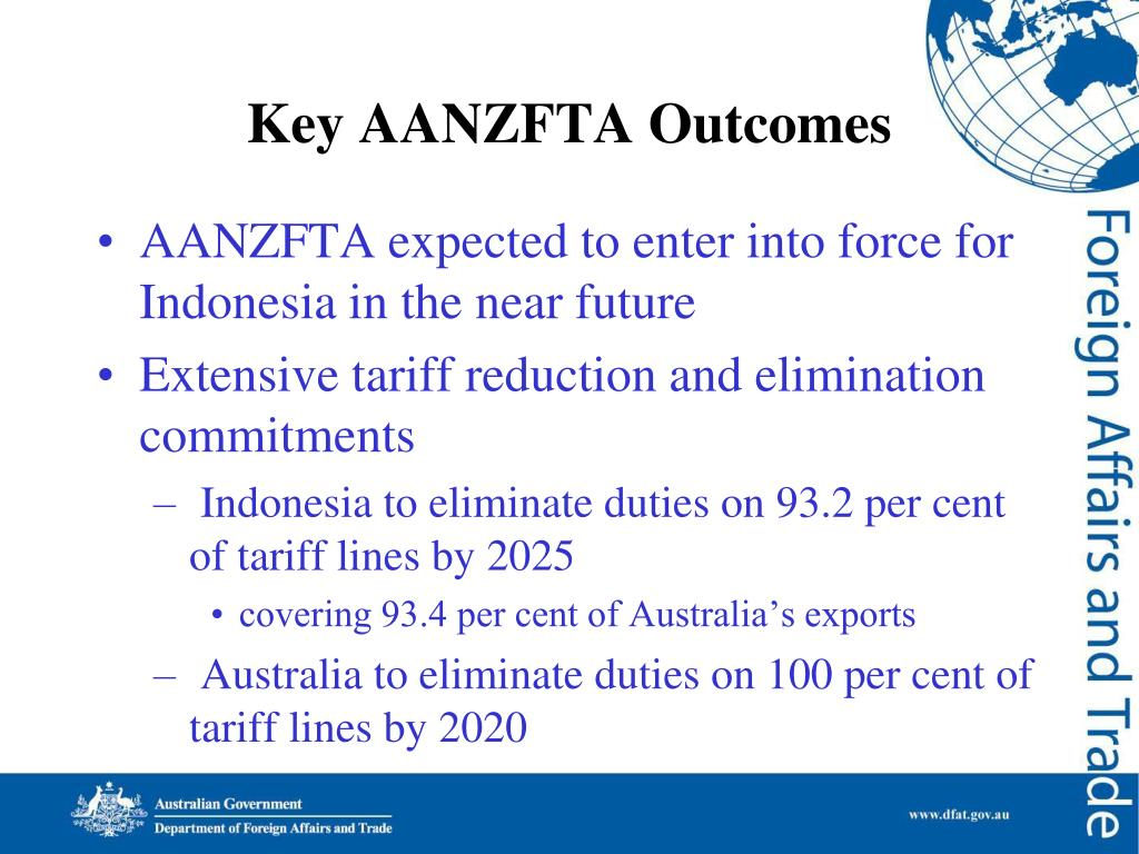 Key AANZFTA Outcomes