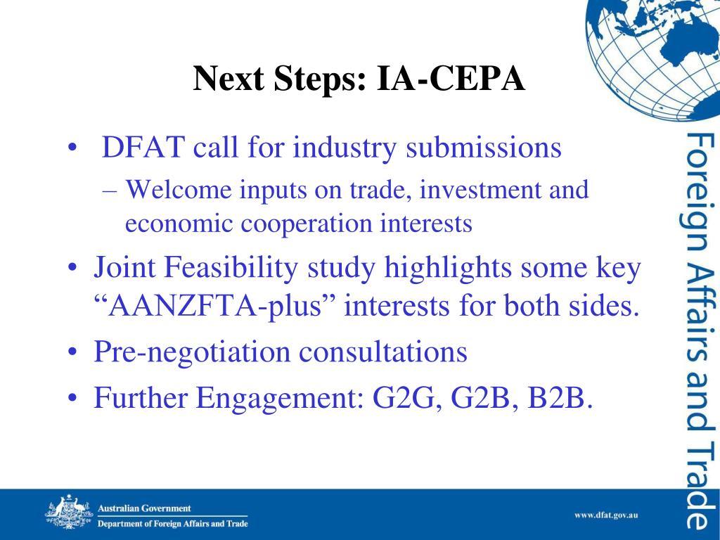 Next Steps: IA-CEPA
