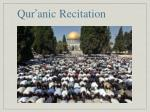 qur anic recitation