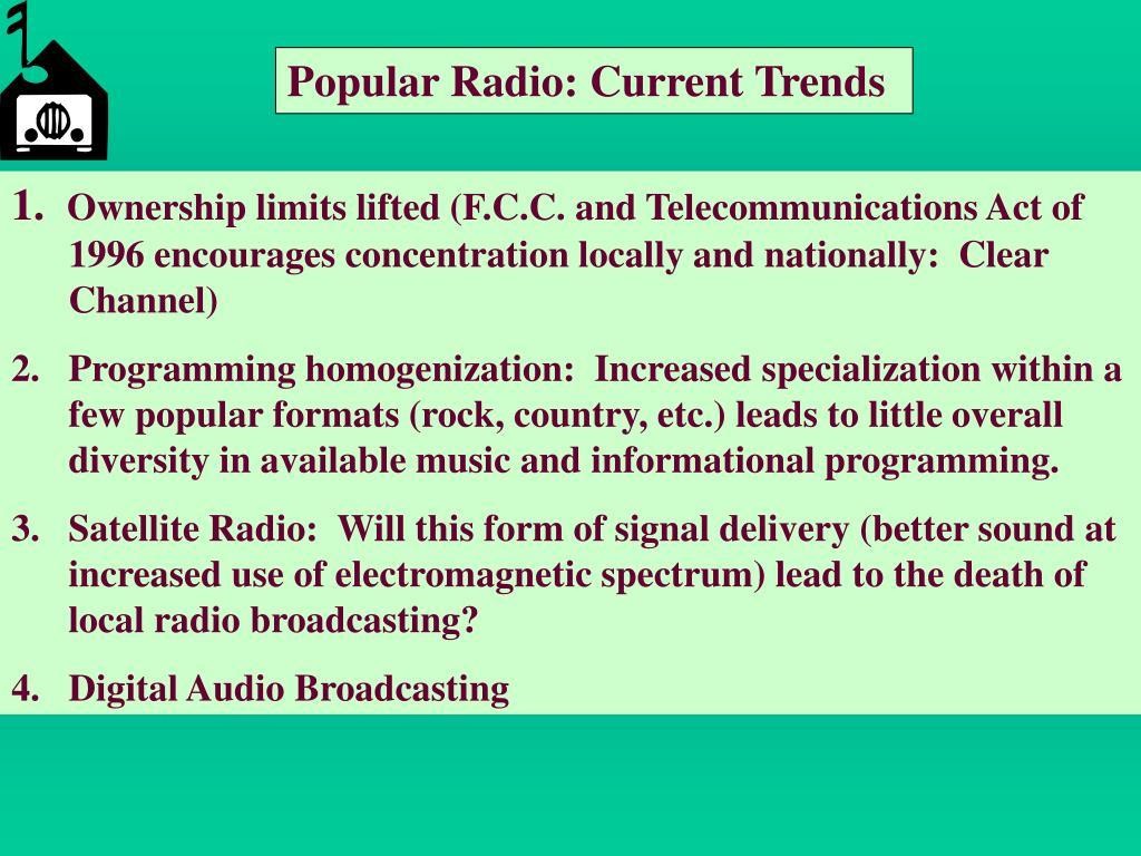 Popular Radio: Current Trends