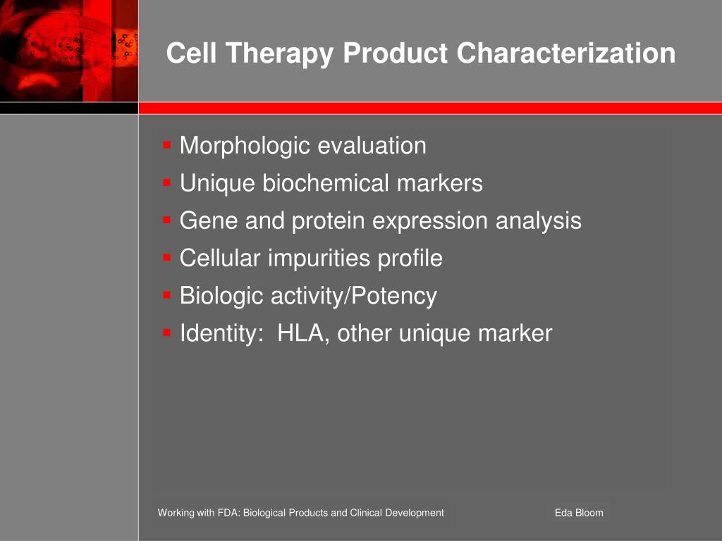 Cell Therapy Product Characterization