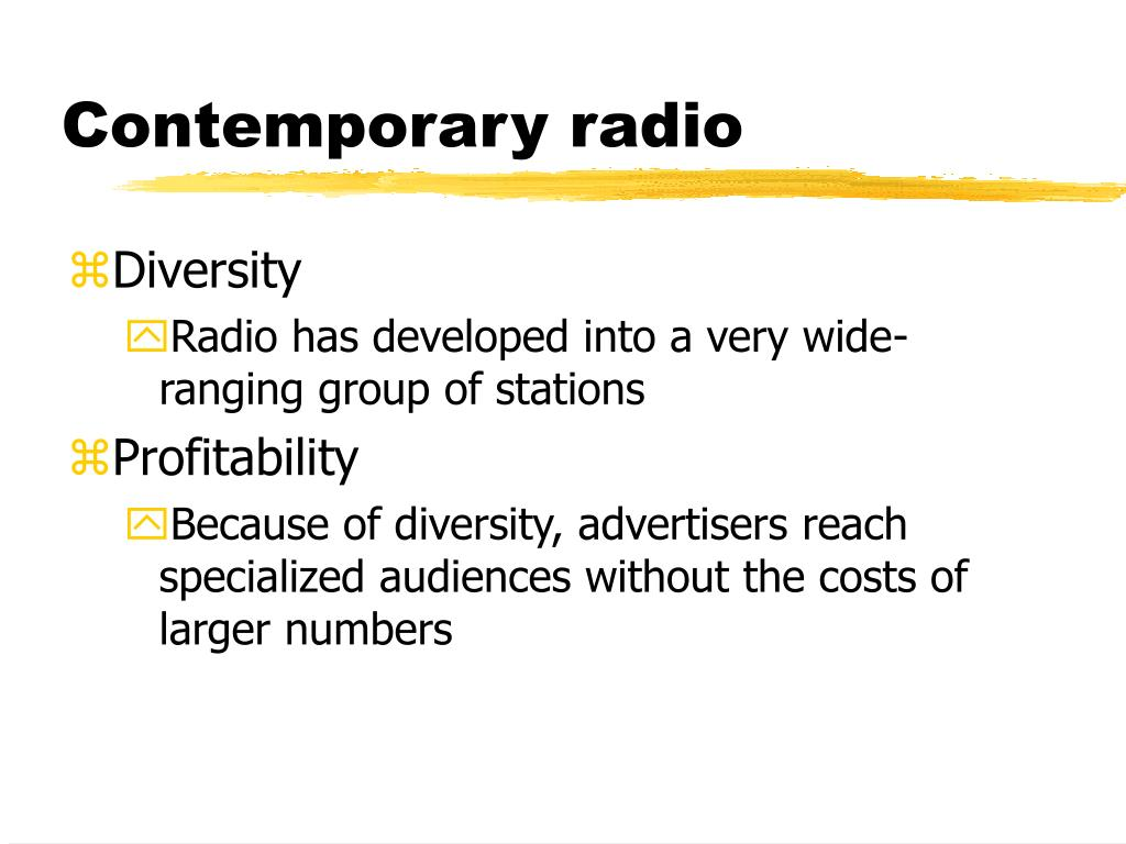 Contemporary radio