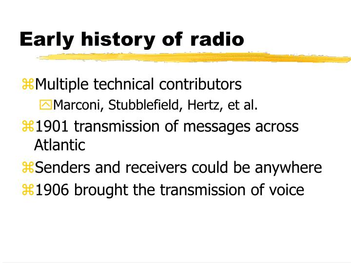 Early history of radio
