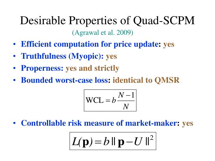 Desirable Properties of Quad-SCPM