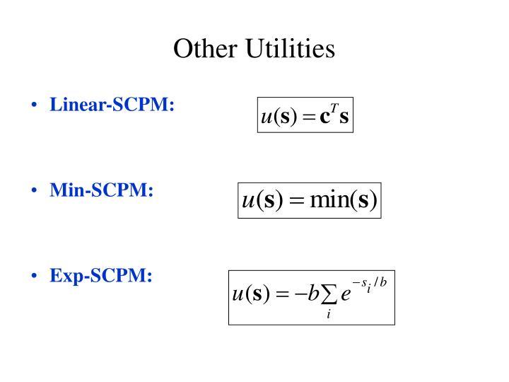 Other Utilities