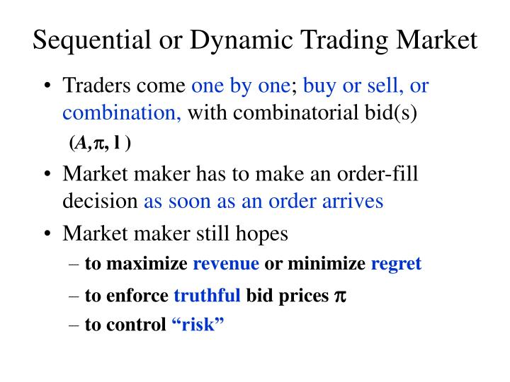 Sequential or Dynamic Trading Market