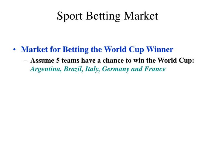 Sport Betting Market