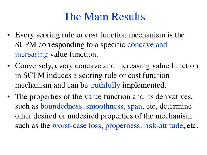 Every scoring rule or cost function mechanism is the SCPM corresponding to a specific