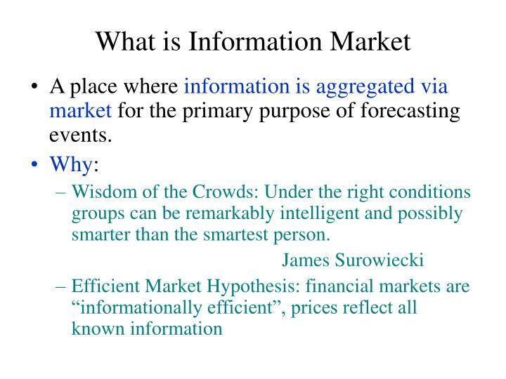 What is Information Market
