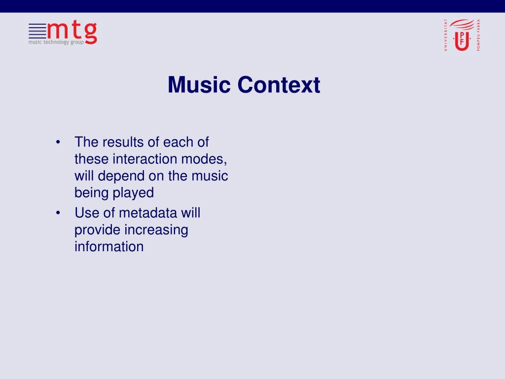 Music Context