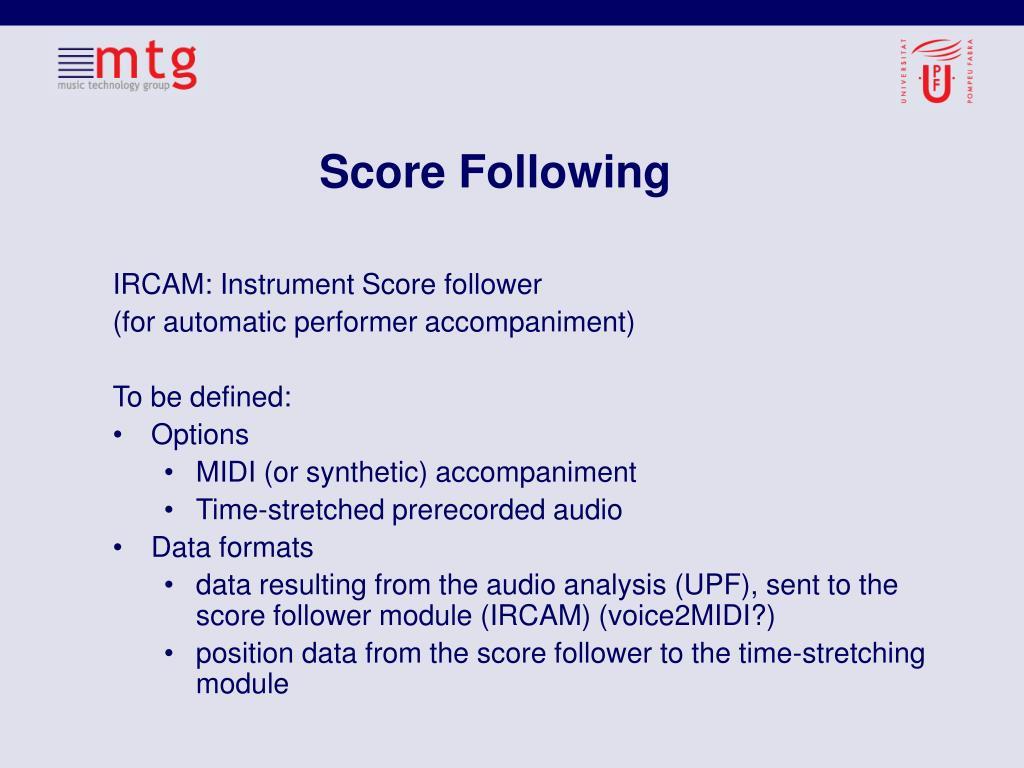 Score Following