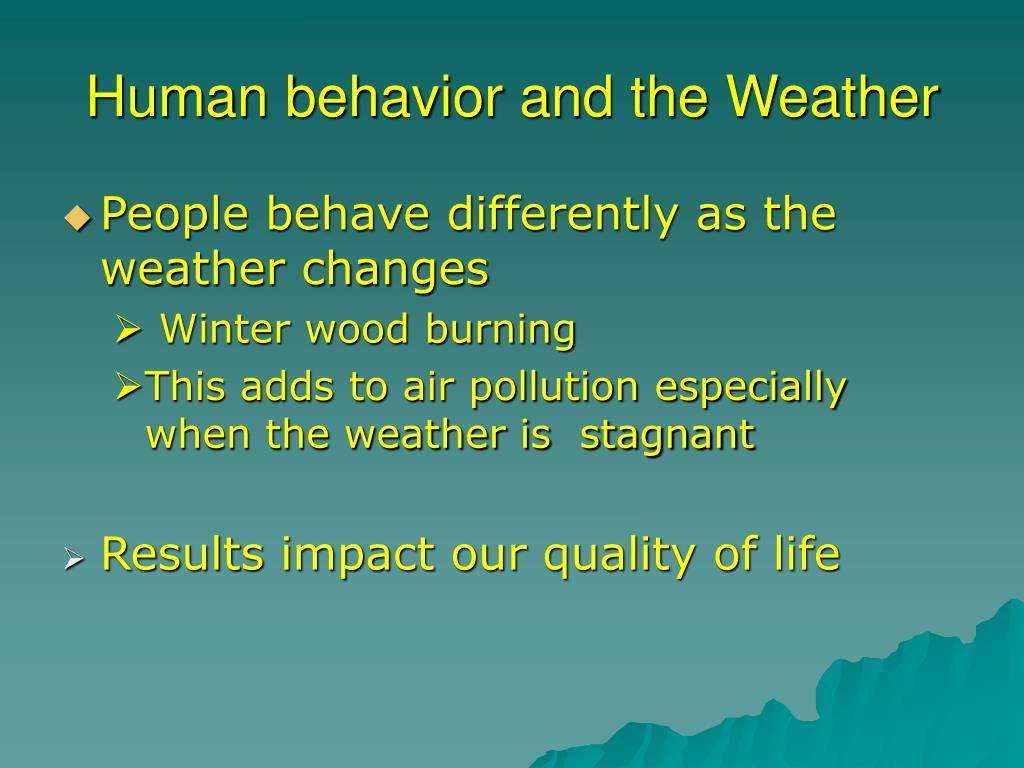 Human behavior and the Weather