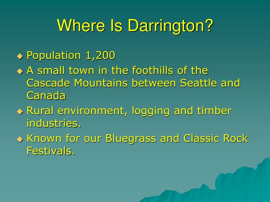 Where Is Darrington?