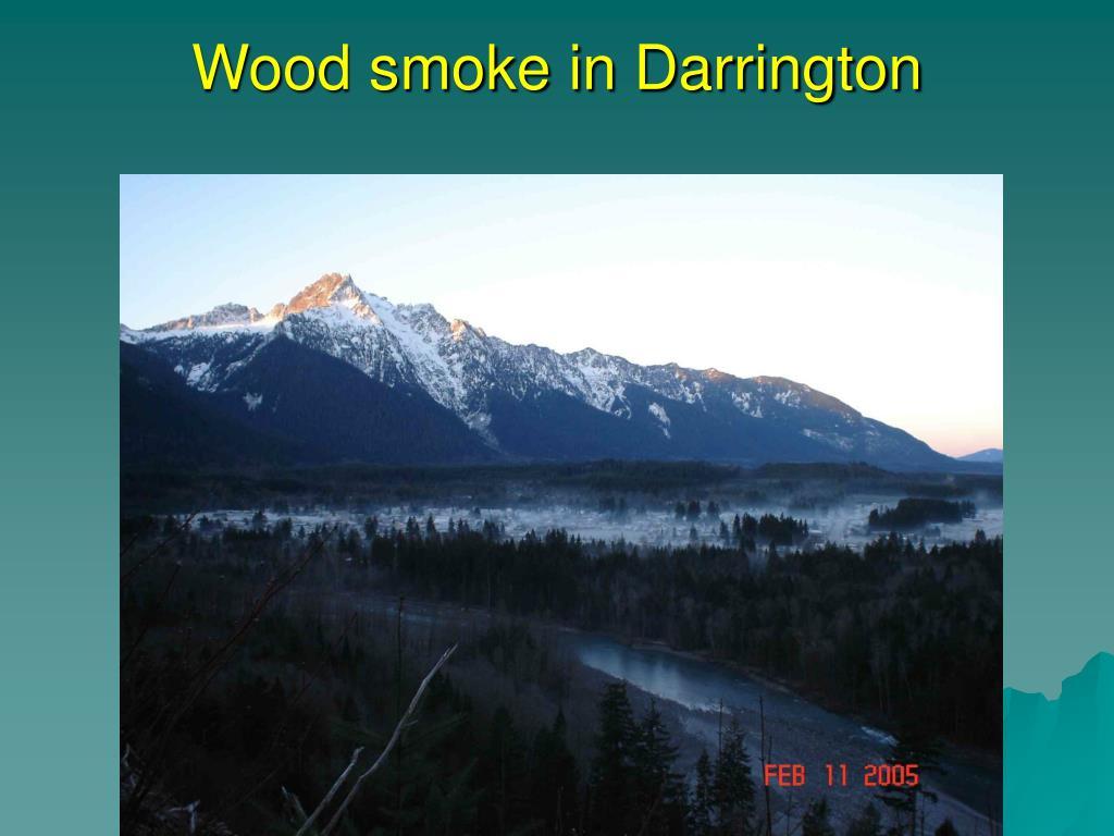 Wood smoke in Darrington