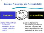 external autonomy and accountability