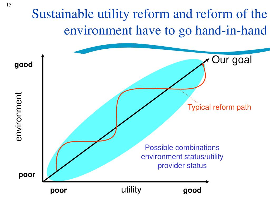 Sustainable utility reform and reform of the environment have to go hand-in-hand