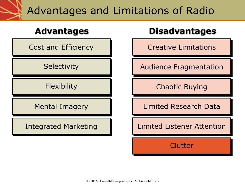 Advantages and Limitations of Radio