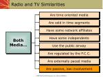 radio and tv similarities
