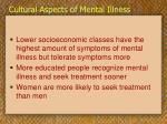 cultural aspects of mental illness