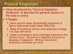 physical responses13