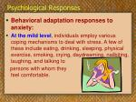 psychological responses22
