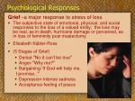 psychological responses32