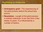 psychological responses33