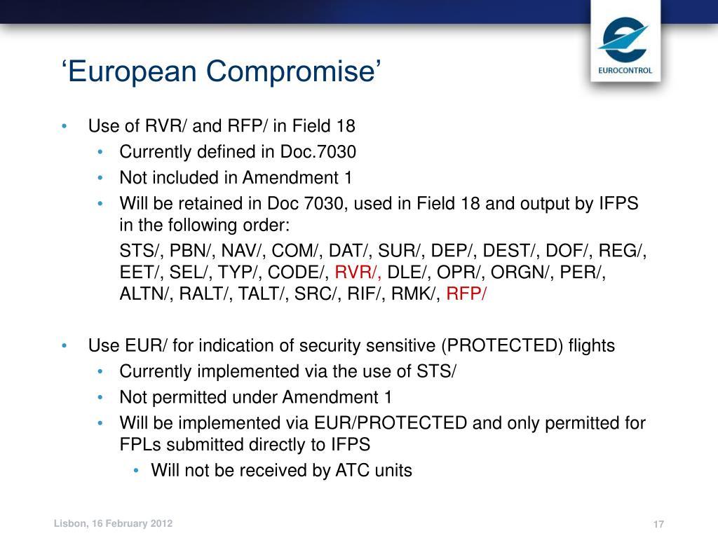 'European Compromise'