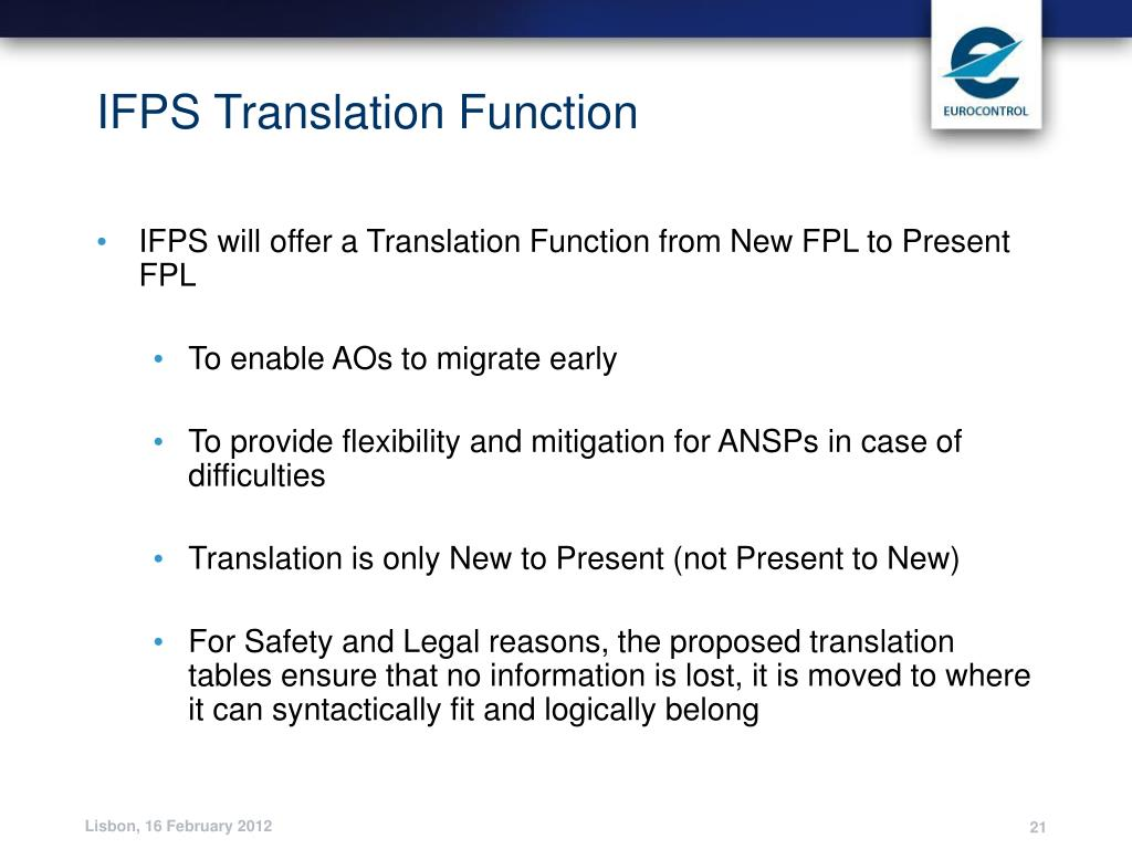 IFPS Translation Function